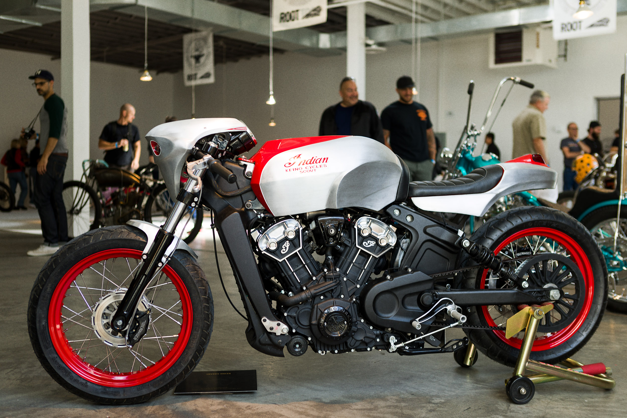 Indian Motorcycles Shows Scout Bobber Custom Bikes