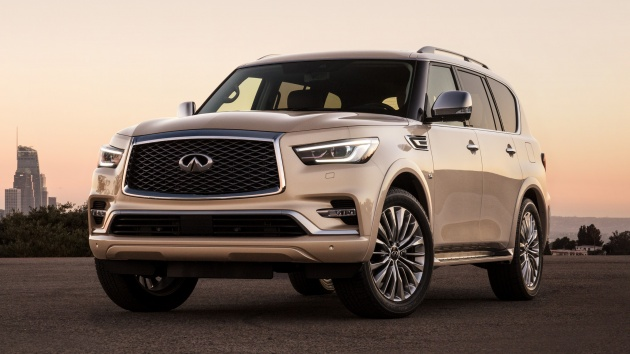 Infiniti Qx80 Facelift Unveiled In Dubai Refreshed Flagship Suv