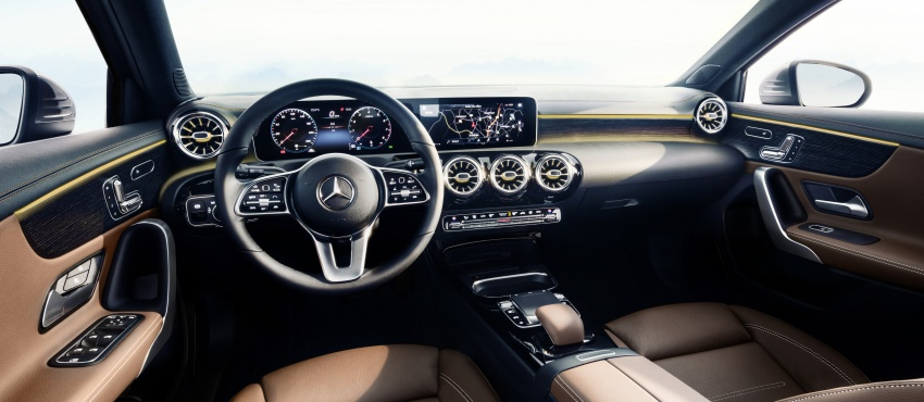 2018 Mercedes-Benz A-Class – interior revealed in full Image #742521
