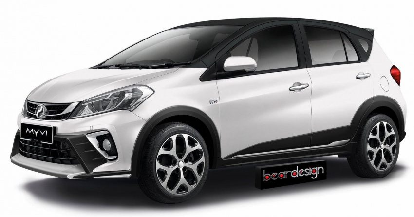 RENDERED: 2018 Perodua Myvi becomes a crossover Image #741277
