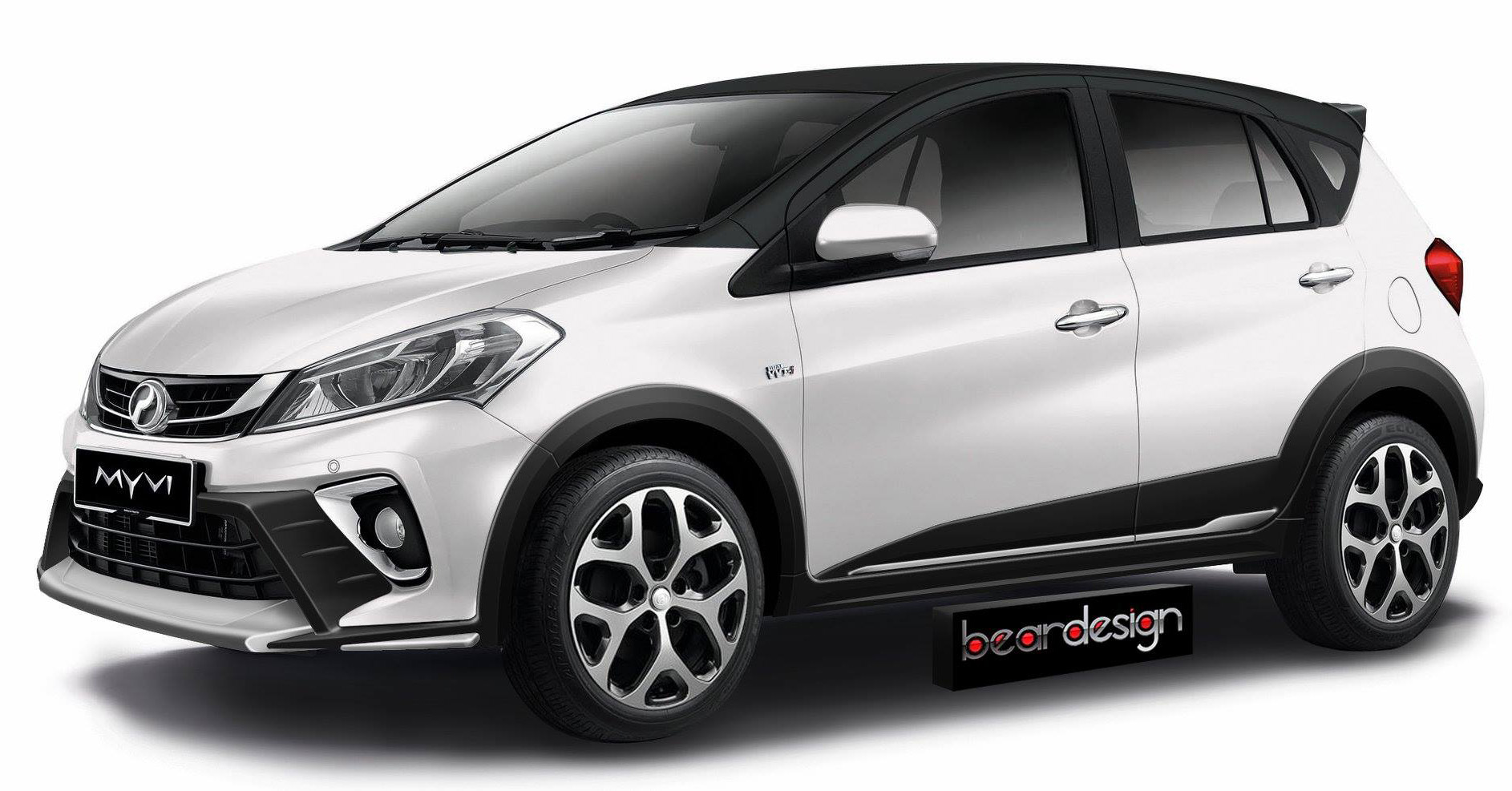 RENDERED: 2018 Perodua Myvi becomes a crossover Image 741277
