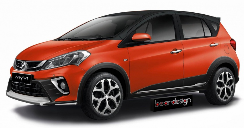 RENDERED: 2018 Perodua Myvi becomes a crossover Image #741278