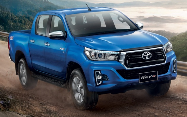 2018 toyota hilux facelift gets new tacoma style face. Black Bedroom Furniture Sets. Home Design Ideas