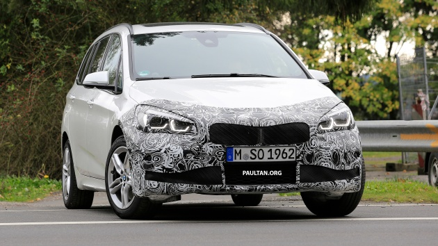 Spied Bmw 2 Series Gran Tourer Lci Gets New Face