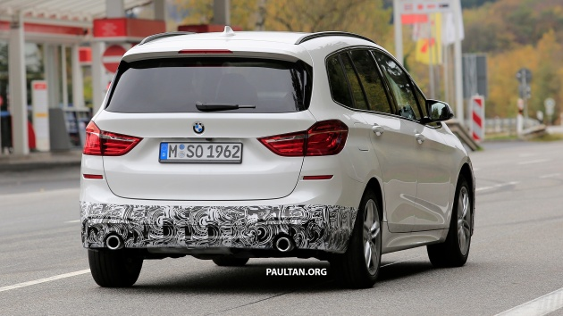 spied: bmw 2 series gran tourer lci gets new face