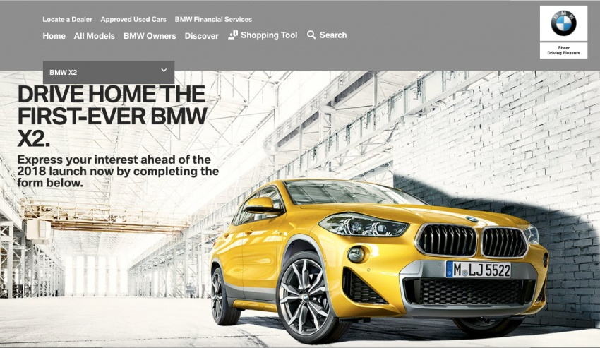 BMW X2 – registration of interest open in Malaysia Image #731828