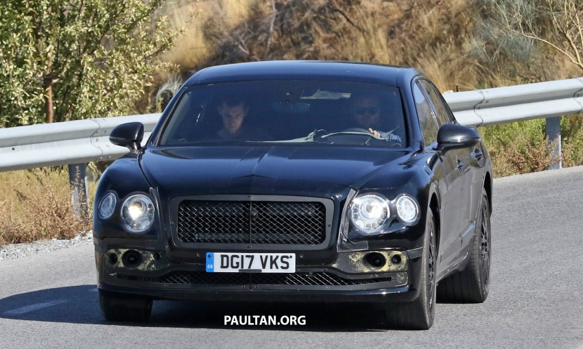 SPYSHOTS: Next-gen Bentley Flying Spur seen testing Image #737090