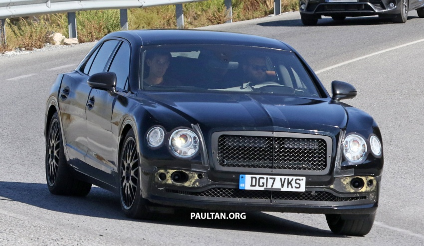 SPYSHOTS: Next-gen Bentley Flying Spur seen testing Image #737093