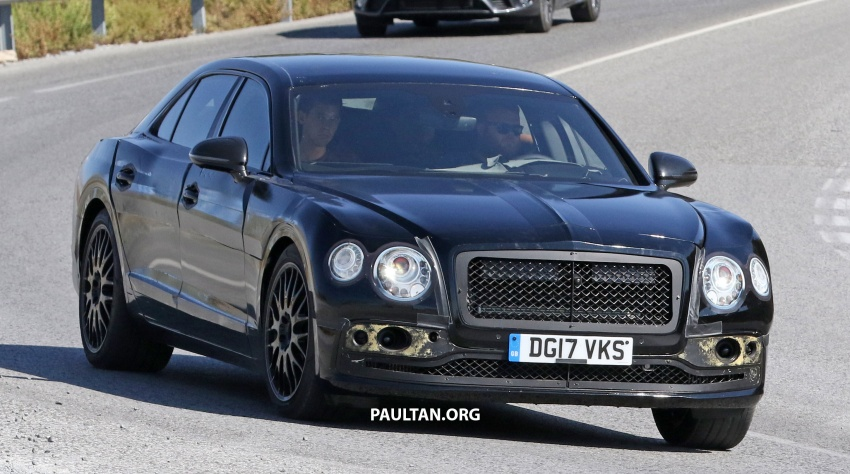 SPYSHOTS: Next-gen Bentley Flying Spur seen testing Image #737094