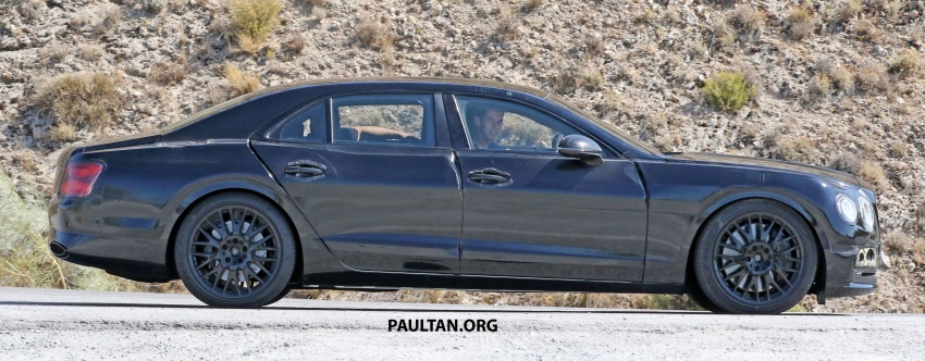 SPYSHOTS: Next-gen Bentley Flying Spur seen testing Image #737100