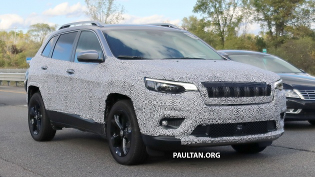 2019 jeep cherokee facelift may get 2 0l hybrid turbo. Black Bedroom Furniture Sets. Home Design Ideas