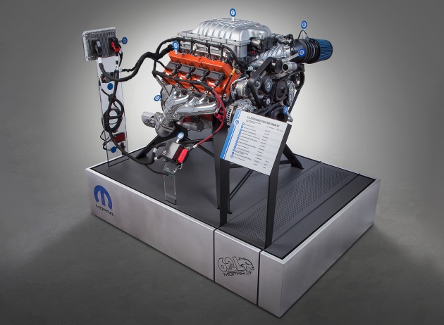 mopar launches the hellcrate hellcat v8 crate engine. Black Bedroom Furniture Sets. Home Design Ideas