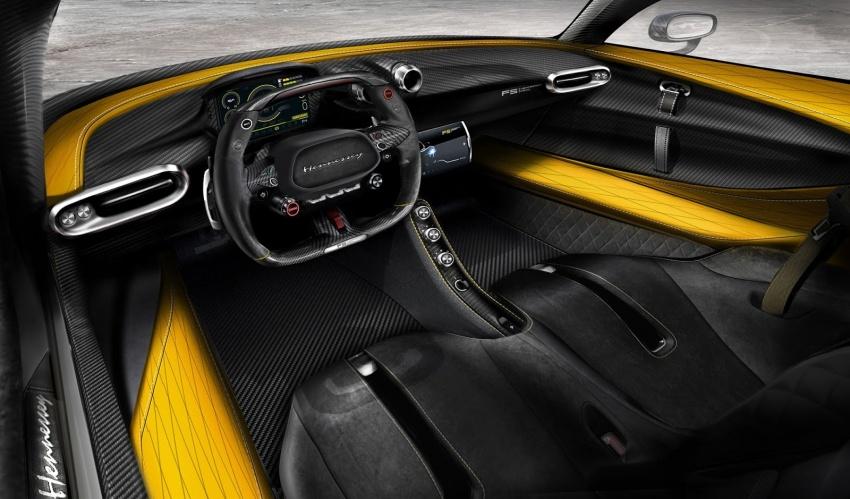 Hennessey Venom F5 shows off carbon-fibre interior Image #741888