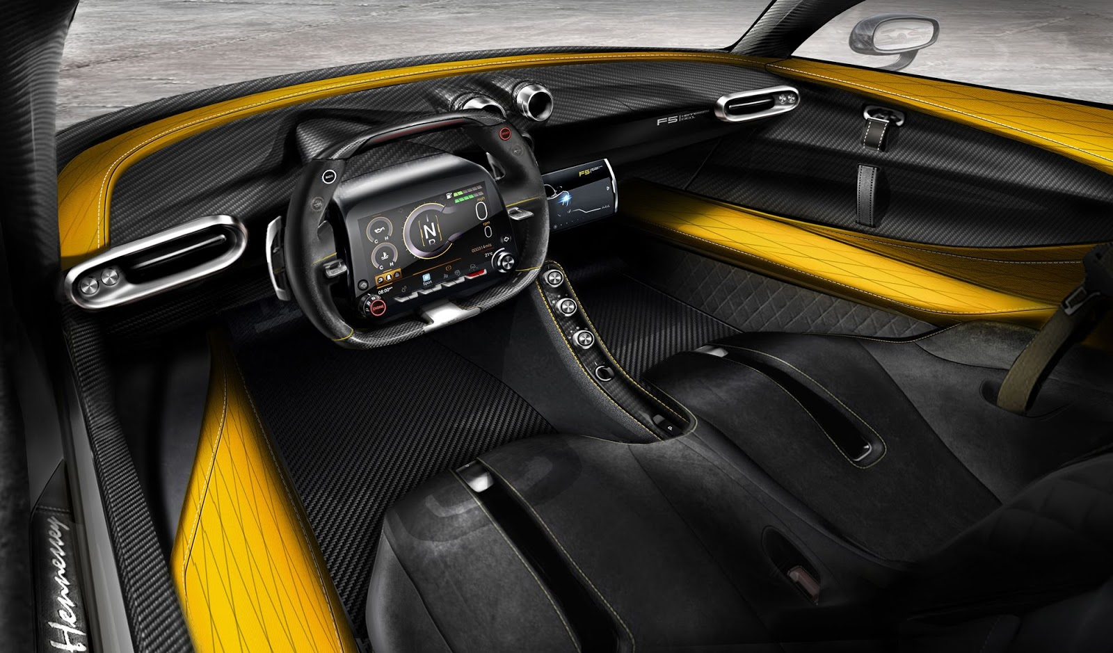 Hennessey Venom F5 shows off carbon-fibre interior
