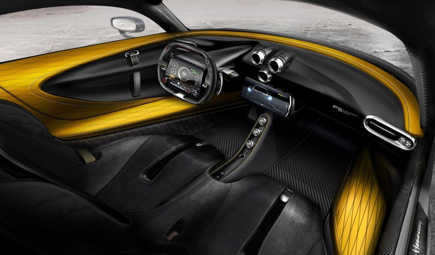 Hennessey Venom F5 shows off carbon-fibre interior Image #741886
