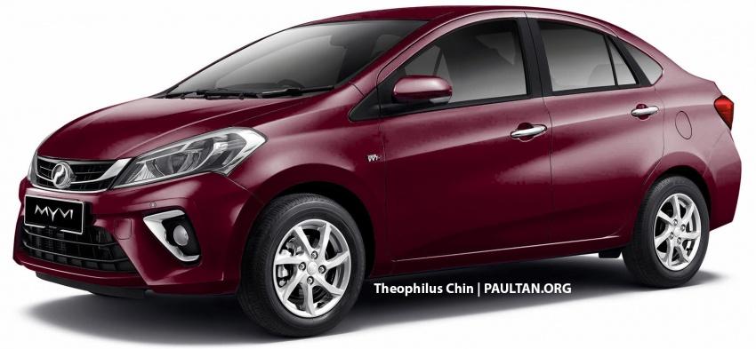 RENDERED: 2018 Perodua Myvi sedan – new flagship? Image #740285