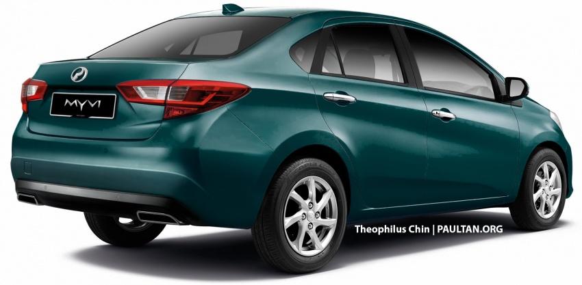 RENDERED: 2018 Perodua Myvi sedan – new flagship? Image #740292