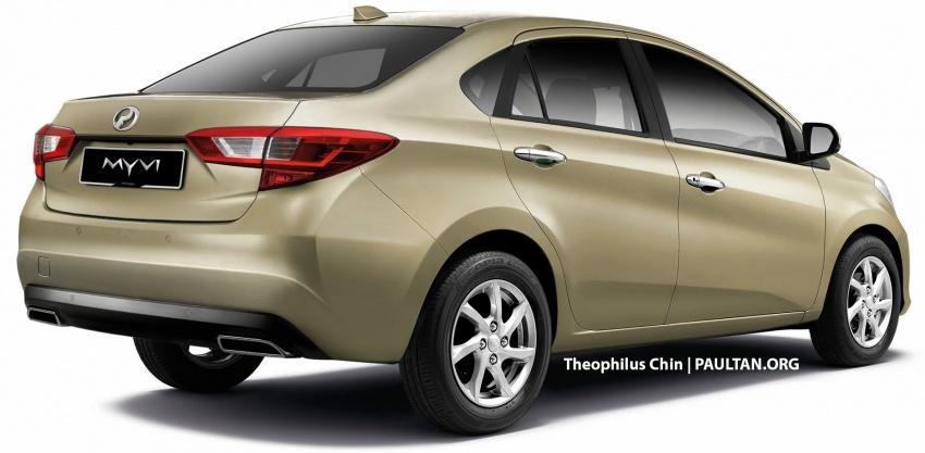 RENDERED: 2018 Perodua Myvi sedan – new flagship? Image #740293
