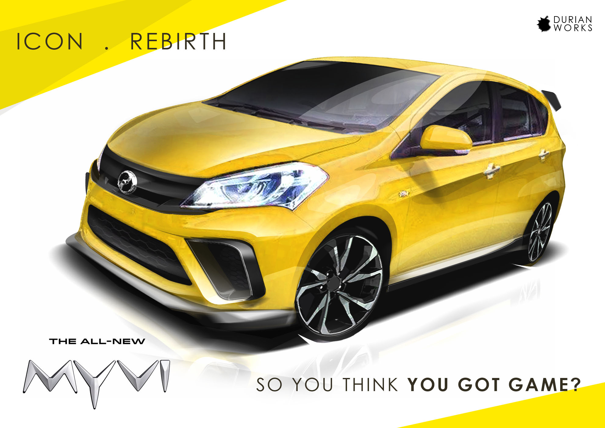 2018 Perodua Myvi virtually tuned by Durian Works