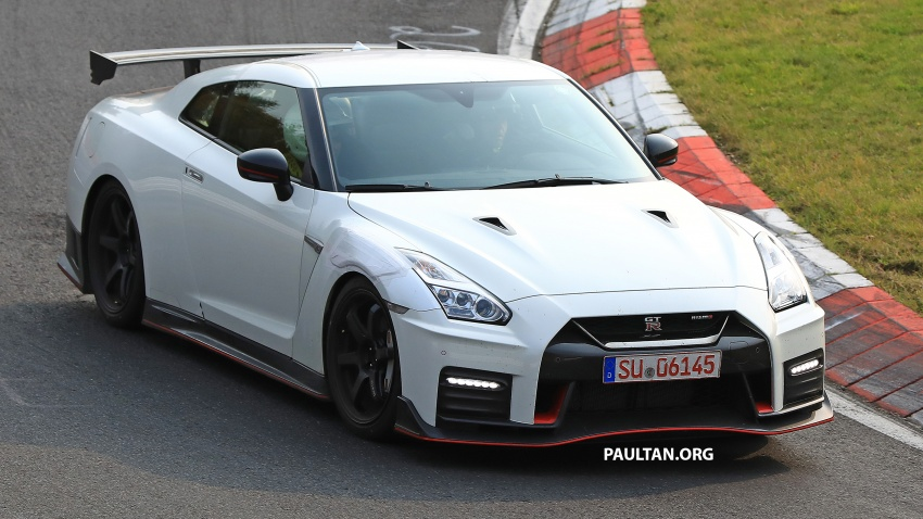 spied 2019 nissan gt r nismo seen at the 39 ring. Black Bedroom Furniture Sets. Home Design Ideas