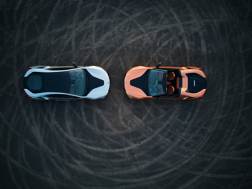 BMW i8 Roadster unveiled – only 60 kg heavier; i8 Coupe also gets new battery, 50% better EV range Image #745832