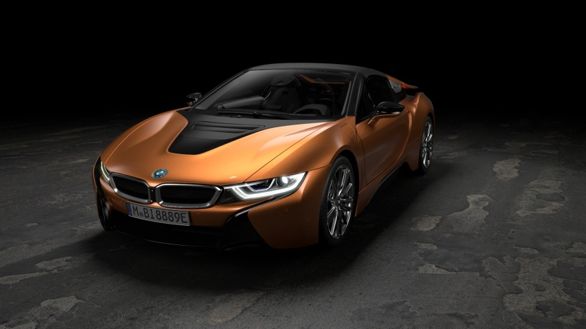 BMW i8 Roadster unveiled – only 60 kg heavier; i8 Coupe also gets new battery, 50% better EV range Image #745880