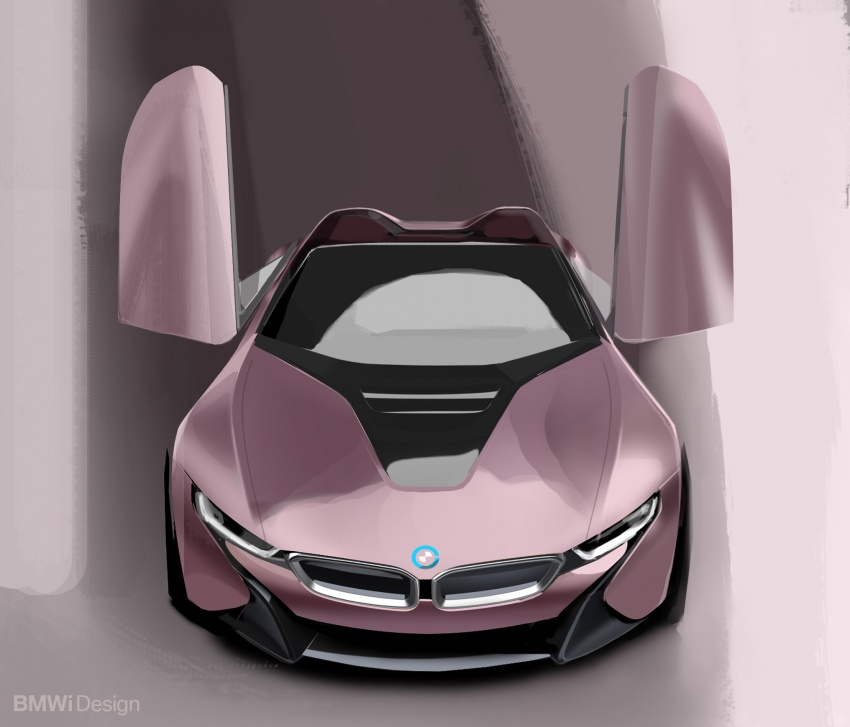 BMW i8 Roadster unveiled – only 60 kg heavier; i8 Coupe also gets new battery, 50% better EV range Image #745895