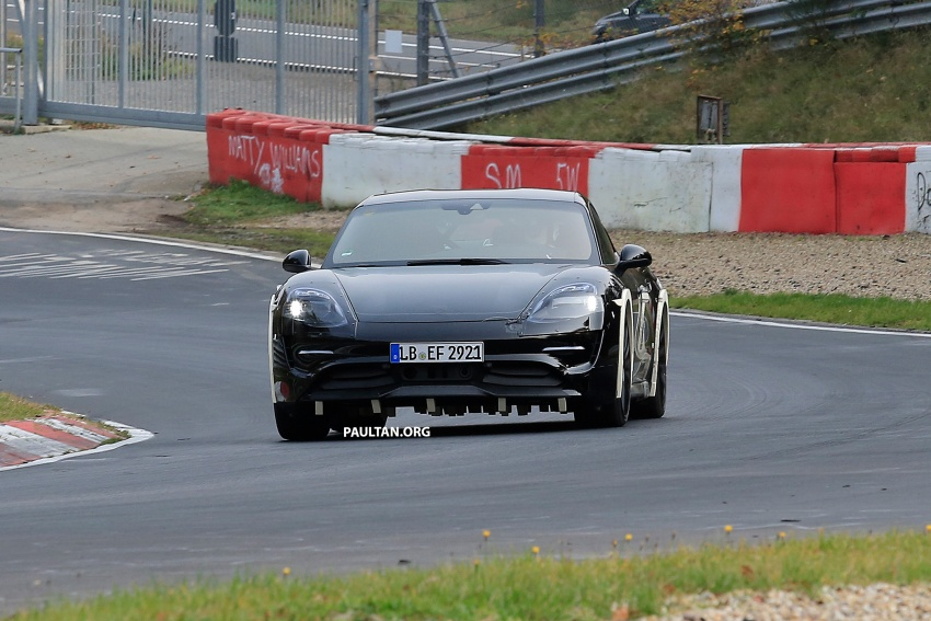 SPIED: Porsche Mission E seen at the Nurburgring Image #738248