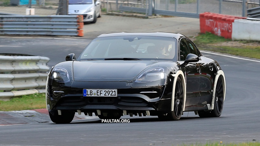 SPIED: Porsche Mission E seen at the Nurburgring Image #738249