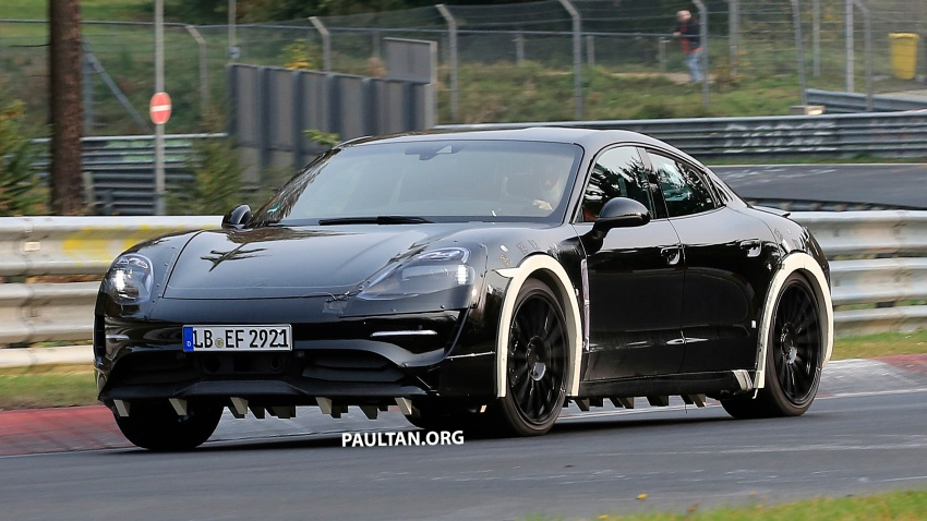 SPIED: Porsche Mission E seen at the Nurburgring Image #738250
