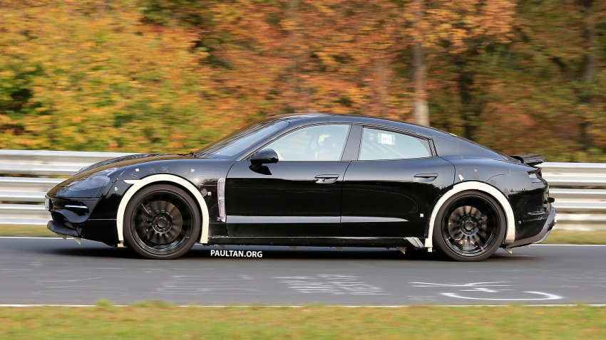 SPIED: Porsche Mission E seen at the Nurburgring Image #738252