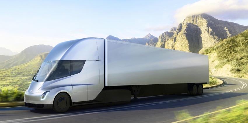 Tesla Semi – futuristic truck with Enhanced Autopilot; 0-97 km/h sprint in 20 seconds with 36-tonne load Image #740155