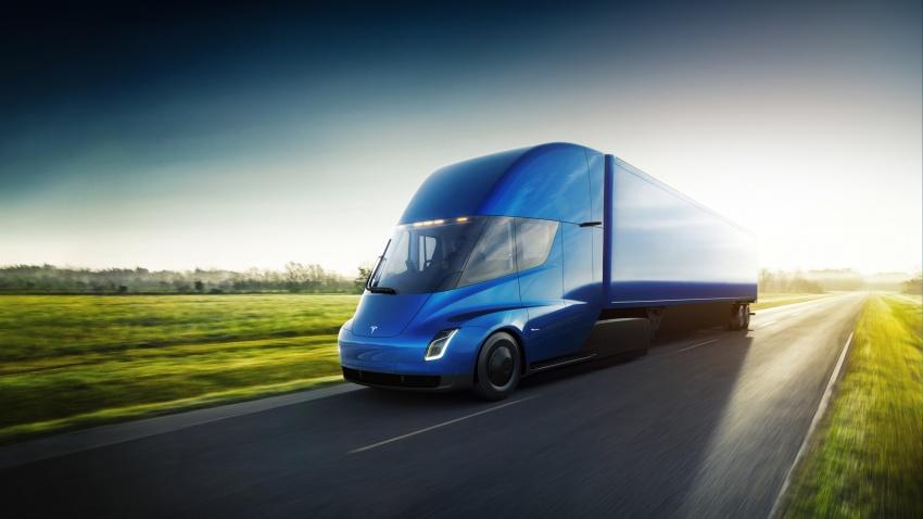 Tesla Semi – futuristic truck with Enhanced Autopilot; 0-97 km/h sprint in 20 seconds with 36-tonne load Image #740156
