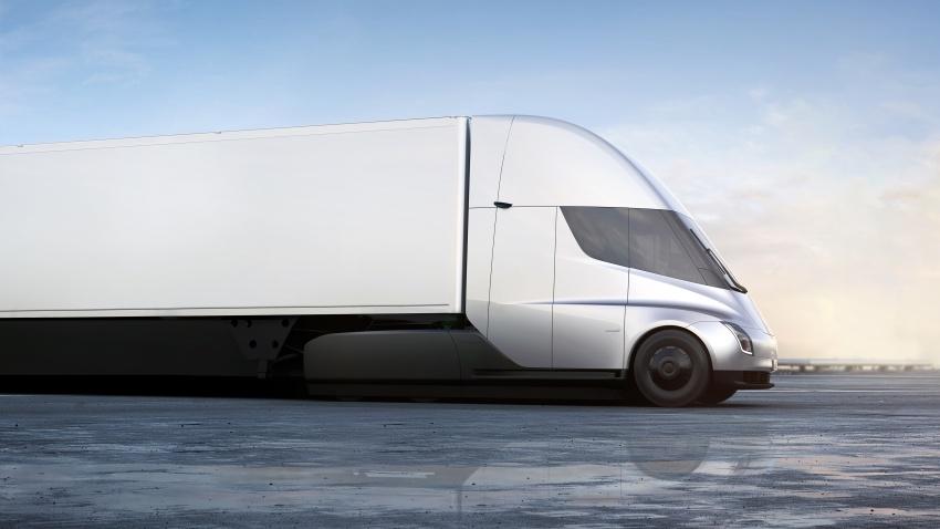 Tesla Semi – futuristic truck with Enhanced Autopilot; 0-97 km/h sprint in 20 seconds with 36-tonne load Image #740158