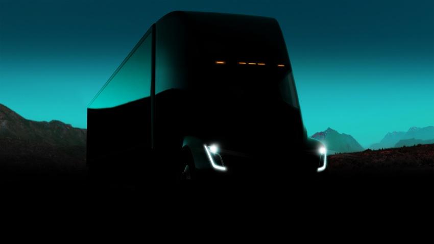 Tesla Semi – futuristic truck with Enhanced Autopilot; 0-97 km/h sprint in 20 seconds with 36-tonne load Image #740162