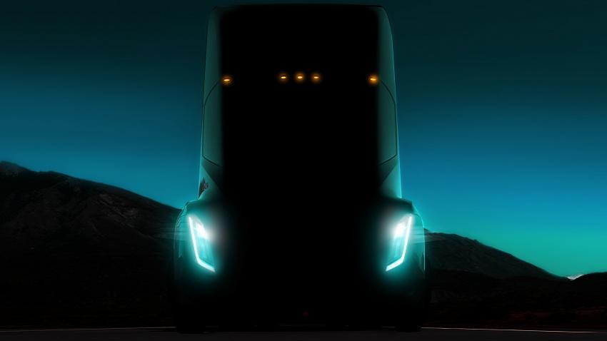 Tesla Semi – futuristic truck with Enhanced Autopilot; 0-97 km/h sprint in 20 seconds with 36-tonne load Image #740163