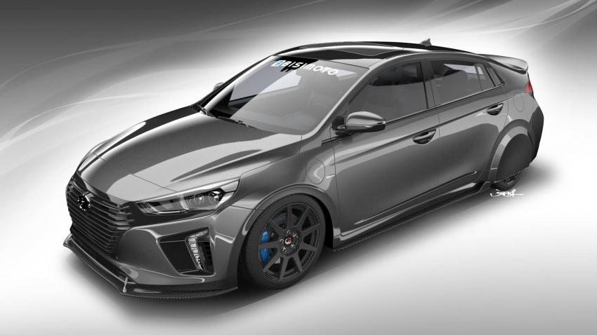 Hyundai HyperEconiq Ioniq Concept – hasil ubahsuai Bisimoto Engineering, tumpu kecekapan bahan api Image #732064