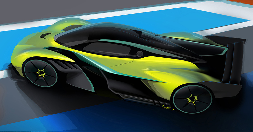 Aston Martin Valkyrie AMR Pro teased in sketches Paul Tan ...