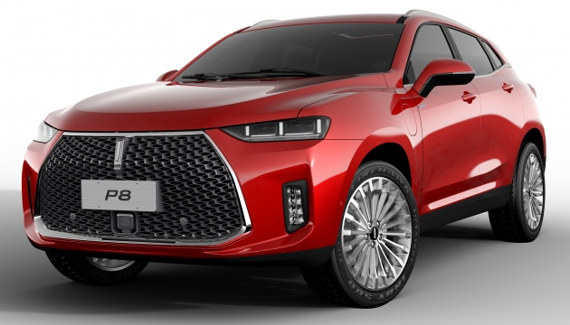 Wey P8 plug-in hybrid SUV unveiled in Guangzhou