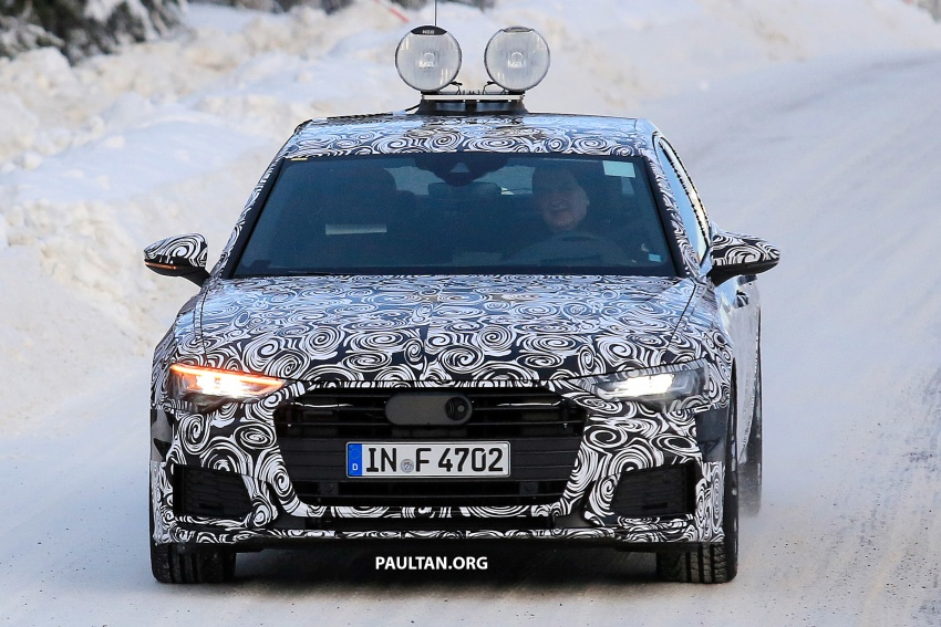 SPIED: C8 Audi A6 spotted – new production lamps? Image #753942