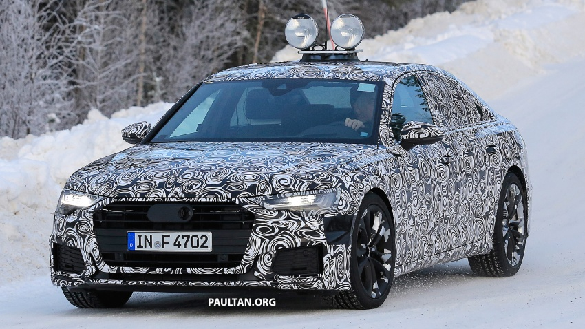 SPIED: C8 Audi A6 spotted – new production lamps? Image #753944