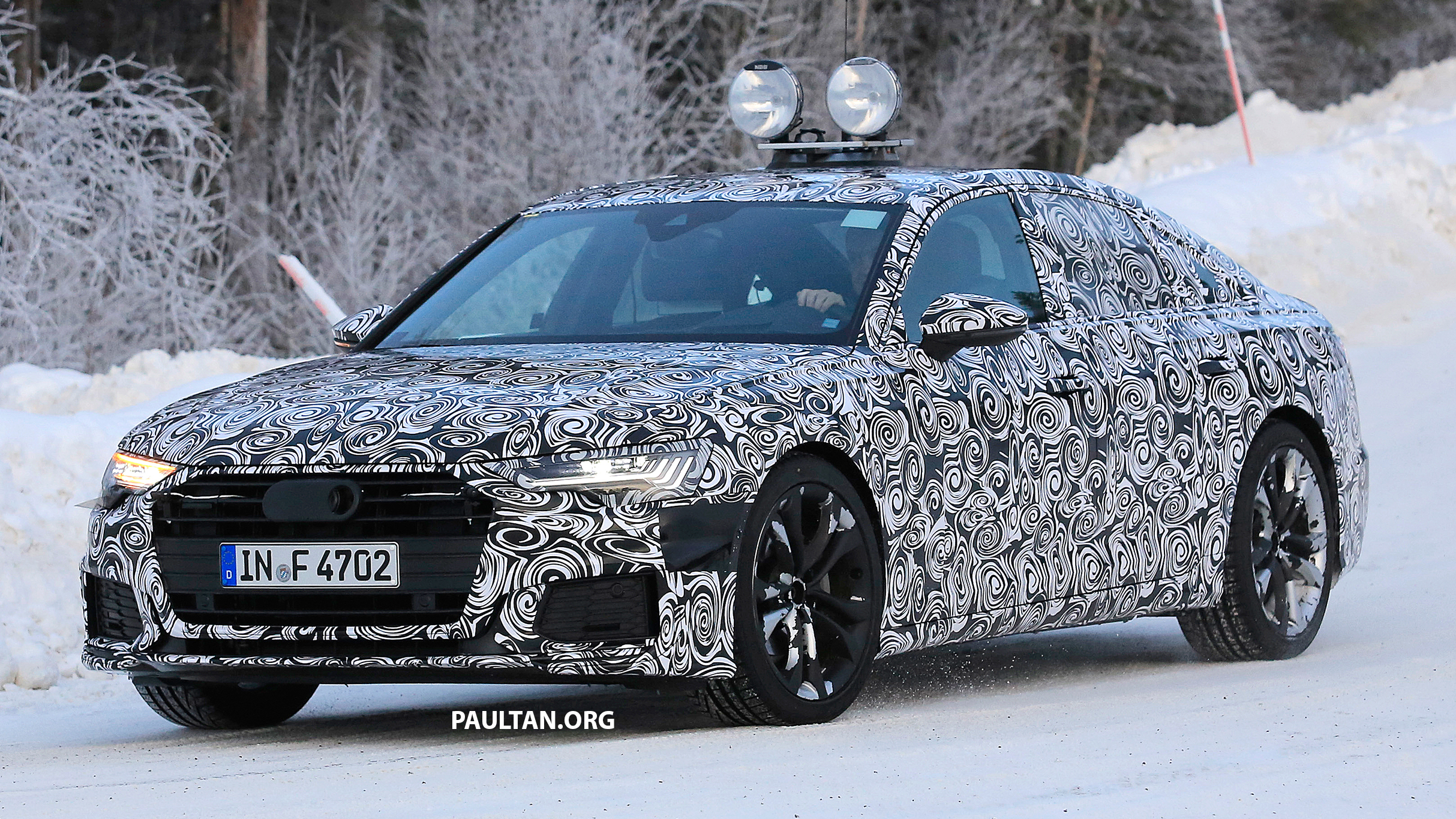 spied c8 audi a6 spotted new production lamps. Black Bedroom Furniture Sets. Home Design Ideas