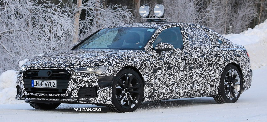 SPIED: C8 Audi A6 spotted – new production lamps? Image #753946