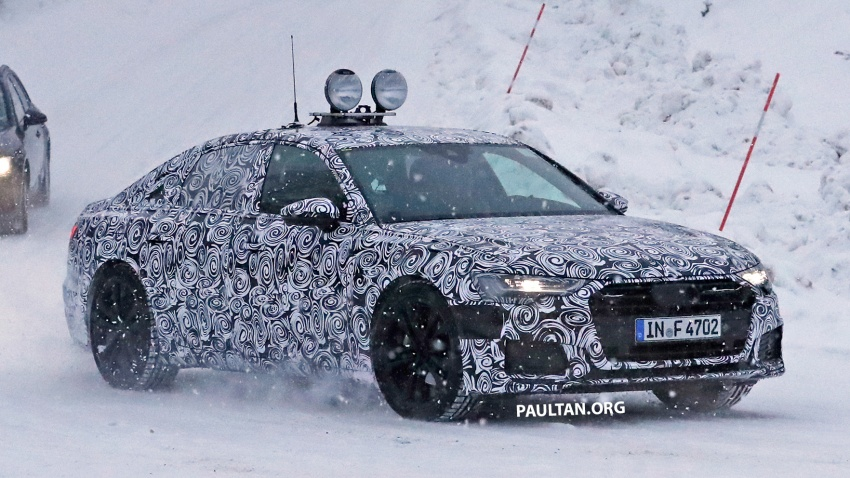 SPIED: C8 Audi A6 spotted – new production lamps? Image #747810