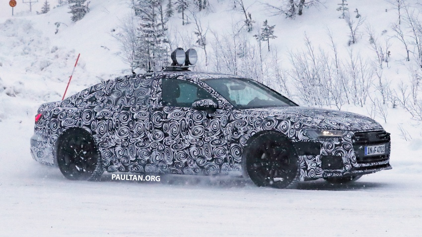 SPIED: C8 Audi A6 spotted – new production lamps? Image #747811