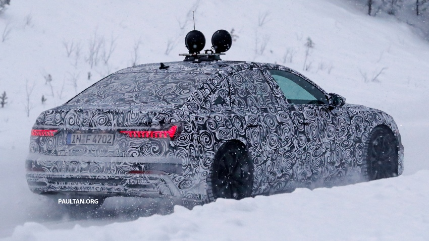 SPIED: C8 Audi A6 spotted – new production lamps? Image #747803