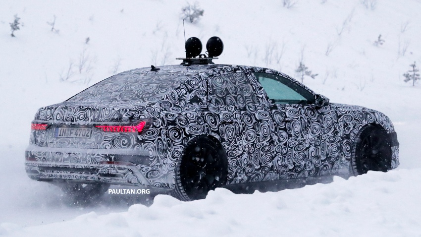 SPIED: C8 Audi A6 spotted – new production lamps? Image #747804