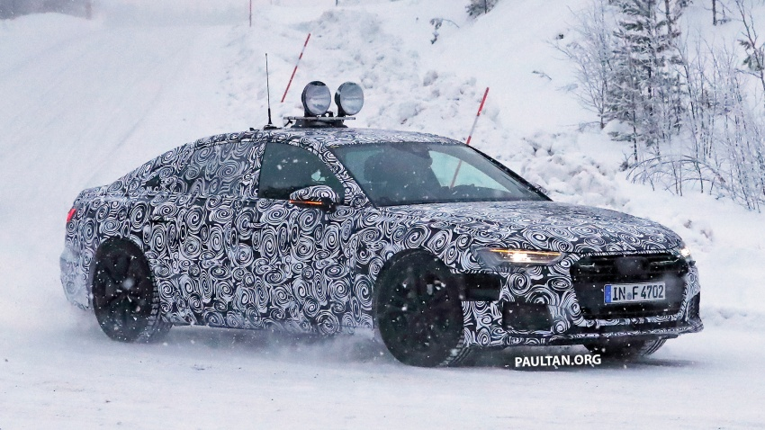 SPIED: C8 Audi A6 spotted – new production lamps? Image #747809