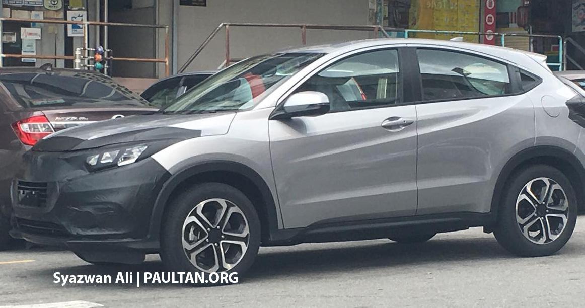 Spyshots 2018 Honda Hr V Facelift Seen In Malaysia