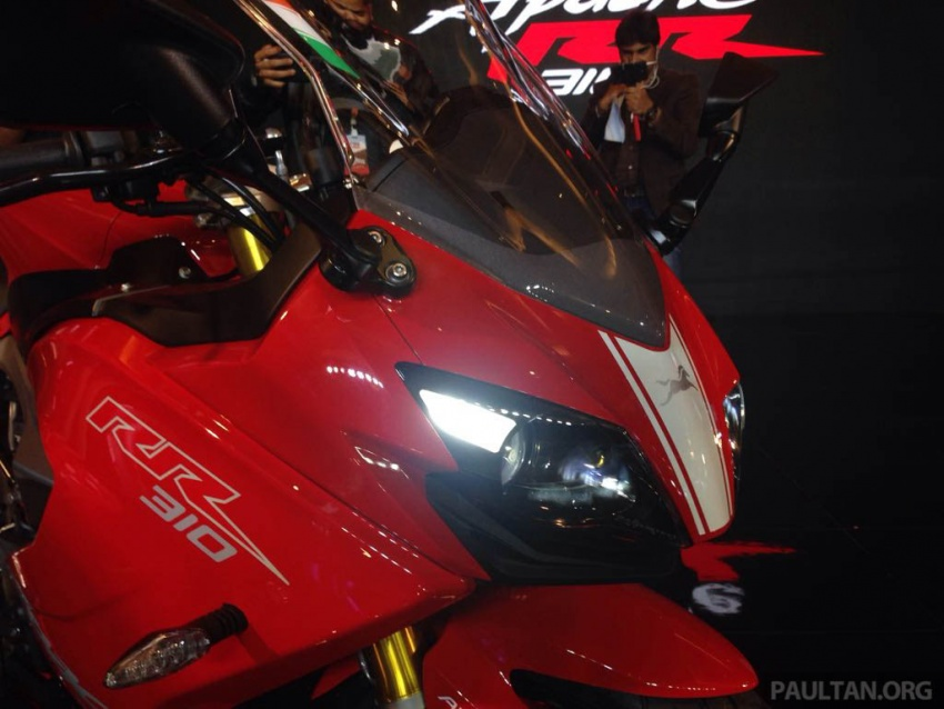 2018 TVS Apache RR 310 launched in India – based on BMW Motorrad G 310 R, 34 hp, full-fairing, RM12,939 Image #747844